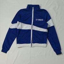 Yamaha Men Jacket Size Small Blue White Casual Nylon Soft Shell Moto Track