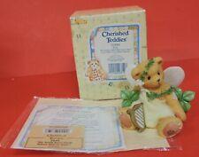 Cherished Teddies Erin Irish Fairy W/Clover/Harp Figurine 203068-St Patricks Day