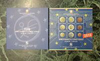 LOTTO 2 SERIE 9 MONETE IN EURO 2009 2010 ITALIA OFFICIAL COIN SET SUBALPINA