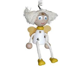 Engel Federfigur Schwingfigur mit Feder * Weihnachtsengel * Holz NEU 17556