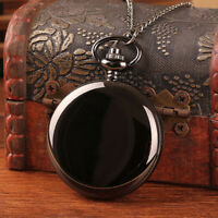 MENS POCKET WATCH MECHANICAL WHITE DIAL HOLLOW HANDS CHAIN HAND-WINDING LUXURY