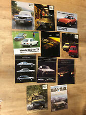 Vintage Mazda RX-3 RX-4 RX-7 GLC B1600 808 Brochures Catalogs LOT OF 11