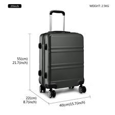 "Kono Lightweight ABS Suitcase 4 Spinner Wheels Trolley Case Luggage Set 20"""