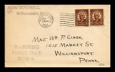 DR JIM STAMPS US PRESIDENT HARDING UNSEALED FIRST DAY COVER SCOTT 684