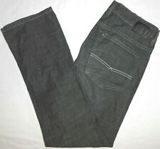 32x30 Buffalo David Bitton 'Six' Straight Leg Black Jeans 100% Cotton Mens Denim
