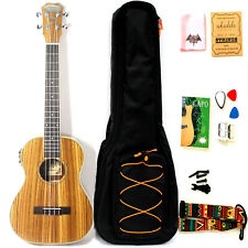 30 Inch Satin Zebrawood Acoustic Electric Ukulele With Truss Rod with EQ