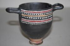 ANCIENT GREEK CAMPANIAN POTTERY SKYPHOS 4th BC WINE CUP