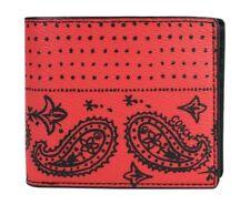 Coach Men's 3-in-1 Red/Black Bandana Print Wallet F57653