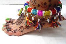 NEW KUCHI TRIBAL BELLY DANCE GLASS BEADED ANKLET PAYAL JEWELRY INDIA GYPSY BOHO