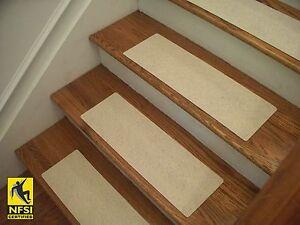 "NFSI High Traction - Vinyl Stair Tread Sets - Cream (511) -  24"" x 8"""