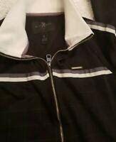 Marc Ecko Cut & Sew Full Zip Track Jacket Mens Small Black & White