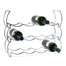 Stainless Steel 3 Tier Wine Rack 12 Bottle Champagne Drinks Holder Kitchen Stand