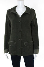 Mary Green Mock Neck Long Sleeve Button Down Cardigan Sweater Size Large