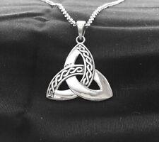 Antique Silver Silver Irish Celtic Triquetra Trinity Knot Pendant