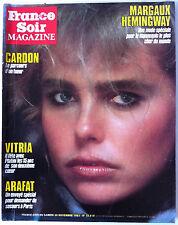 France Soir Magazine du 26/11/1983; Margaux Hemingway/ Gardon/ Vitria/ Arafat