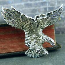 Silver Tone Flying American Eagle Pendant