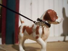 Jaapi BLACK small dog collar w/black leash for Breyer Animals, not for real dogs