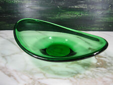 MCM HOLMEGAARD SCANDINAVIAN ART GLASS SELANDIA BOWL BY PER LUTKEN IN RARE GREEN