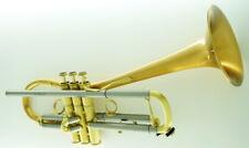 """New CAROL BRASS """"EURO BELL"""" CarolBrass CTR-5280L-GLT(D)-SL Bb Trumpet Pro Model"""