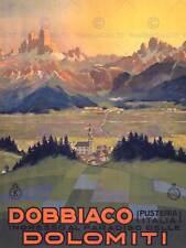 Travel tourism Dobbiaco italy dolomites ain new art print poster CC4400