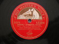 78 rpm OUVERTURE LA FORZA DEL DESTINO Arturo Toscanini - NBC Symphony Orchestra