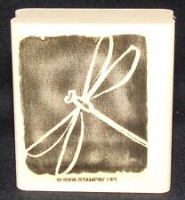 Dragonfly Rubber Stamp Single flying Bug insect by Stampin Up All I have Seen