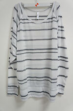 Soybu Donna T-Shirt BIANCO-GRIGIO tglxl NUOVO #K114
