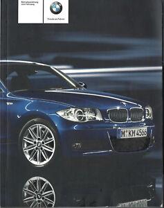 BMW 1er E88 CABRIOLET E82 COUPE Betriebsanleitung 2009 Handbuch Cabrio BA