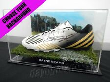 ✺Signed✺ DAYNE BEAMS Boot PROOF COA Brisbane Lions Collingwood Magpies Guernsey