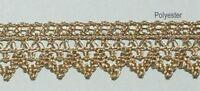 1 m Klöppelspitze 24 mm breit  Lurex gold