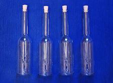 10 x 200 ml leere Glasflaschen, Likörflaschen, Schnapsflaschen, neu, mit Korken