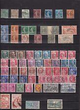 lot de 65 timbres français perforés