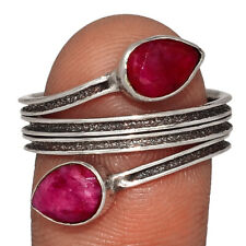 Ruby 925 Sterling Silver Ring Jewelry s.10 AR147546 137D