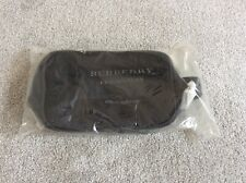 Original BURBERRY Black Pouch Toiletry Cosmetic Bag Dopp NEW SEALED PACKAGE