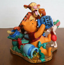 Disney 1995 Christmas at our House Winnie the Pooh, Tigger & Piglet Figurine