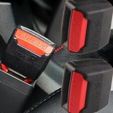 2x Black Car Safety Seat Belt Buckle Extension Extender Clips Alarm Stopper New
