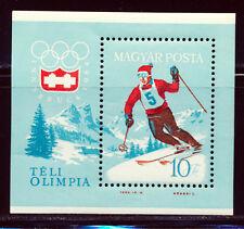 HUNGARY 1964 WINTER OLYMPICS INNSBRUCK SOUVENIR SHEET SCOTT 1555