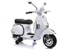 Elektrofahrzeug Motorroller Vespa Piaggio PX150 weiß für Kinder 12V 2 x 45W Moto