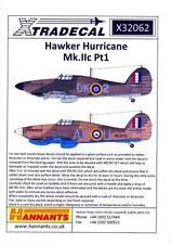 Xtra Decals 1/32 HAWKER HURRICANE Mk.IIC British Fighter Part 1