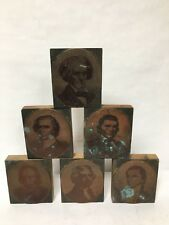 6 Pc Letterpress Photo Print Block Ormsbee Engraving NY Portrait Copper Wood
