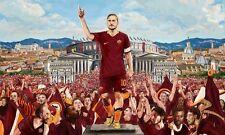 POSTER FRANCESCO TOTTI A.S. AS ROMA 10 ROME SOCCER FOOTBALL CALCIO CAPITANO #40