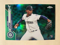 2020 Topps Chrome Justin Dunn Green Refractor SP Rookie Card 59/99 #136 - RARE!