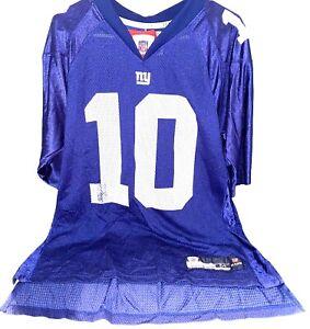 Eli Manning Jersey New York Giants Adult Reebok Authentic Blue Size M Medium P1