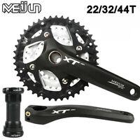 MEIJUN 9/27 Speed MTB Bike Crankset 22/32/44T 170mm Crank 104BCD Chainring BB