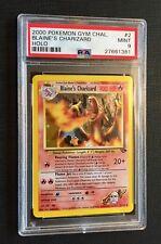 Pokemon Card PSA 9  2000 Blaine's Charizard Gym Her. CORRECT ENERGY FIRE 2/132