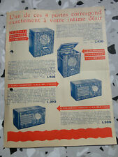 ancienne publicite  radio recepteurs L.M.T