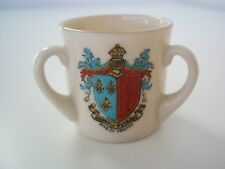 Arcadian China Crested Ware 3 Handled Loving Cup (King of France + 2 Other Arms)