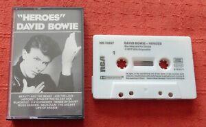 DAVID BOWIE - UK CASSETTE TAPE - HEROES