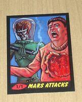 2012 Topps Heritage MARS ATTACKS sketch card Nick Neocleous NIK 1/1