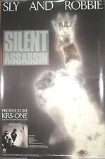 Sly & Robbie Silent Assassin, Island promo poster, 1989, 20x30, Ex, reggae